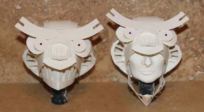 Owl Helmet Bristol Paper Sculpture