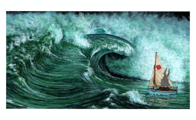 """""""The Bullying tide."""" (Revised artwork, still not the final artwork.)"""