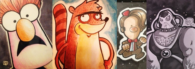 Some samples of Kate's artwork! You can get a commission done through select rewards!