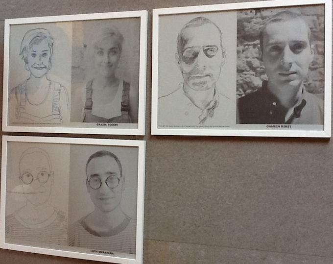 Gabriele Di Matteo, «E il Topo», 1993, 3 drawings on paper, 32,3 x 43,5 cm each
