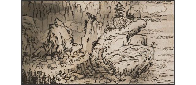 Devil's Eye Mountain - Region Map Art