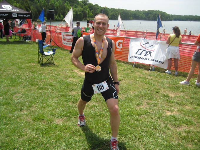 Posing with my finisher's medal after the Kinetic Half.