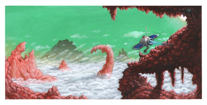 Concept art for space story.