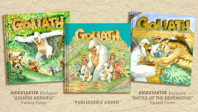 """In addition to the """"PUBLISHER'S COVER,"""" Mike Ploog has created two alternative cover paintings specifically for Kickstarter supporters."""