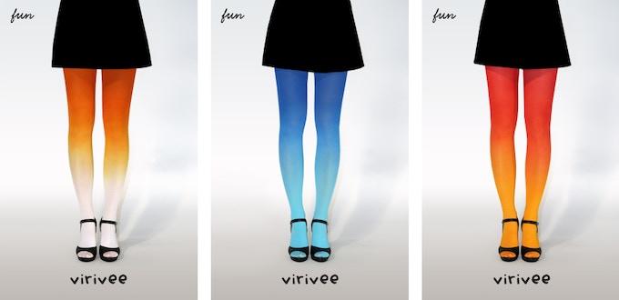Virivee fun ombre tights