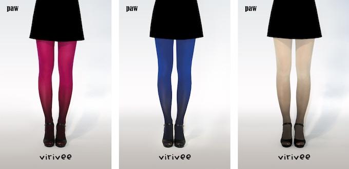Virivee paw ombre tights