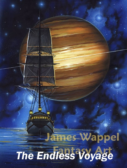 My favorite painting which I ever did, combining my love of Sail and of Stars!
