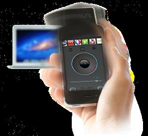 Mauz Motion Gesture Media Center / Smart TV example
