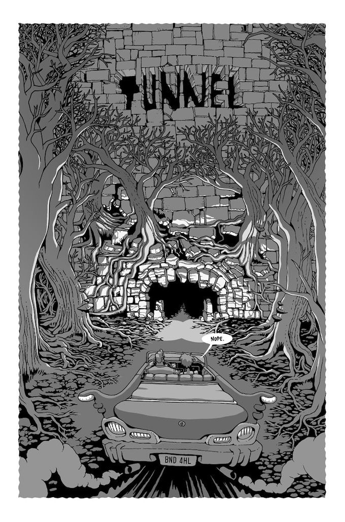 Tunnel by Adventure Time artist and RISD alumni (1995-1999) Andy Ristaino