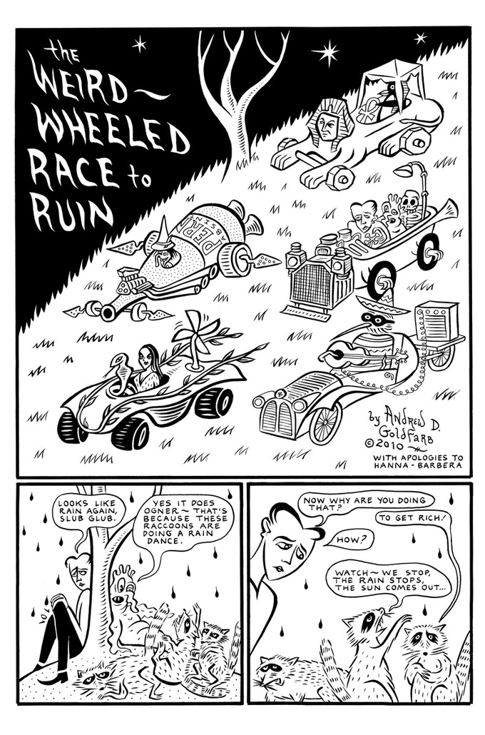 Weird Wheeled Race to Ruin by Andrew Goldfarb
