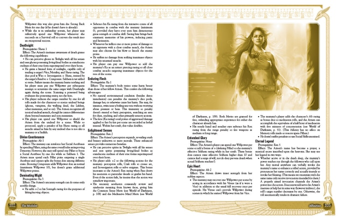 Sample Page Spread Featuring Powers