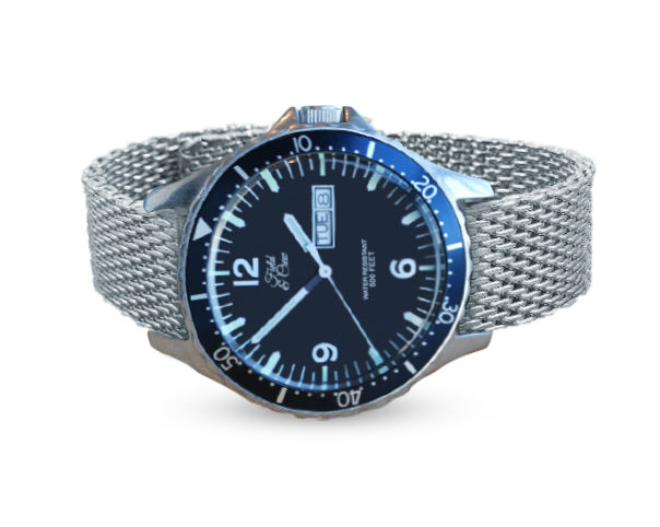 Heritage Watch with our Shark Mesh Steel Band