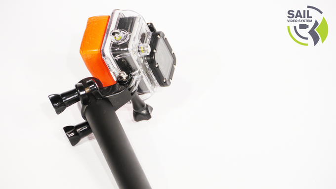 GoPro Hero3 attached with seat-post clamp (NOT INCLUDED).