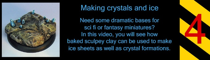 I save my left over shards of baked Sculpey to make crystals.  Now you can too!
