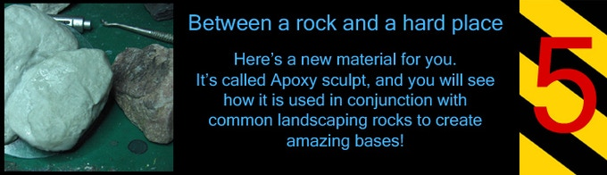 Put those annoying landscaping rocks to better use!  Make bases with them without needing a diamond tipped drill.
