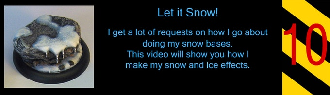 This will show you how to use flex paste or gesso to make some snow and ice bases.