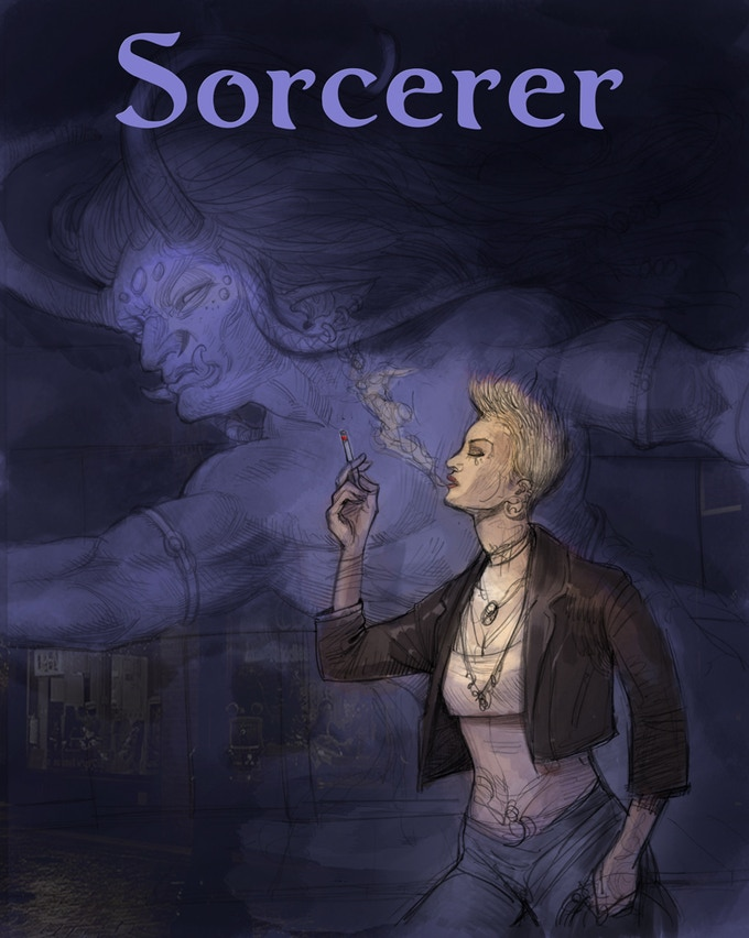 Concept piece for the cover (one side of two-part image)