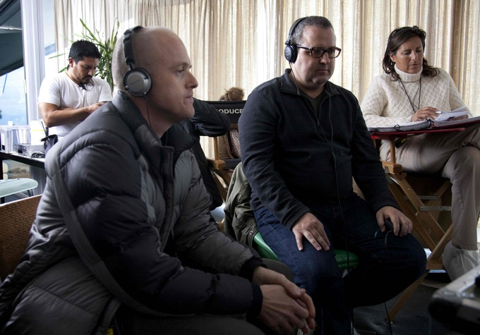 L to R: On-Set Dresser Danny Florian, Producer Paul Jaconi-Biery, Writer/Director Sean Hanish, Script Supervisor Mimi Baker