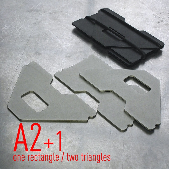 NEW: A2+1 COMPACT WALLET / 1 RECATANGLE + 2 TRIANGLES