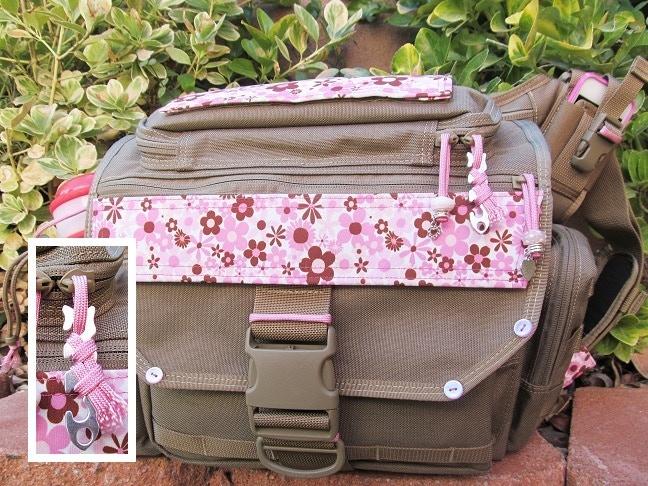 Zipper Pull on Tactical Diaper Bag