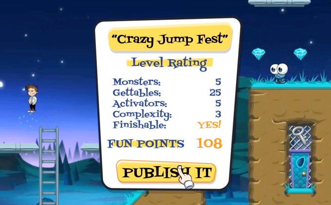 Mockup of the The Editor assigning Fun Points.