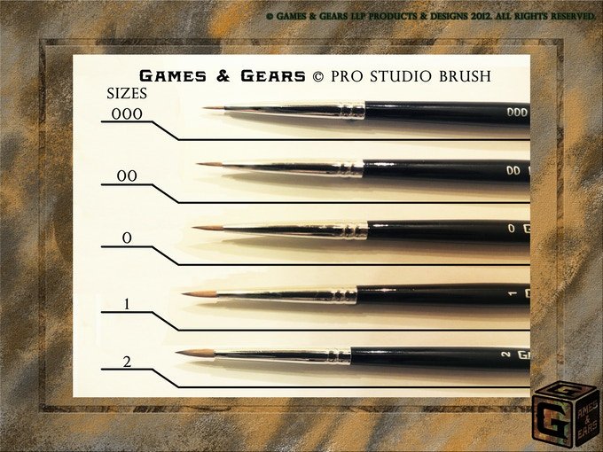 Bursh hairs are designed for miniature painting to get the best results!