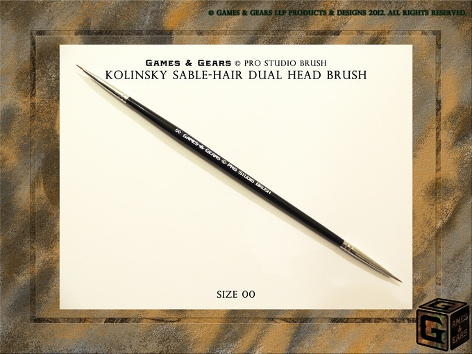 Games & Gears: Pro Studio Brush Size 00 for the finer details for your models