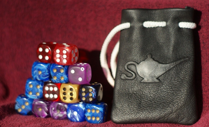 14 dice in the small bag