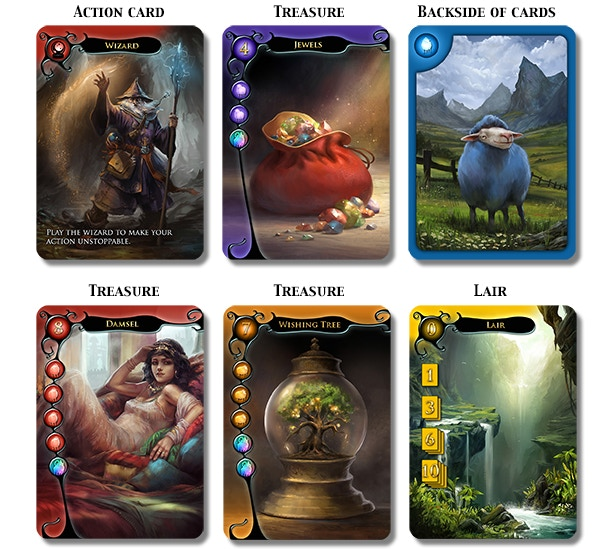 Image result for dragons hoard card game