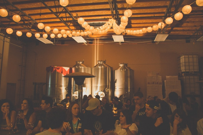 """At Tasting Room during our Grand Re-Opening in November, 2012.  Over 250 people through the night.  This is how all of our monthly """"Release"""" parties look!"""