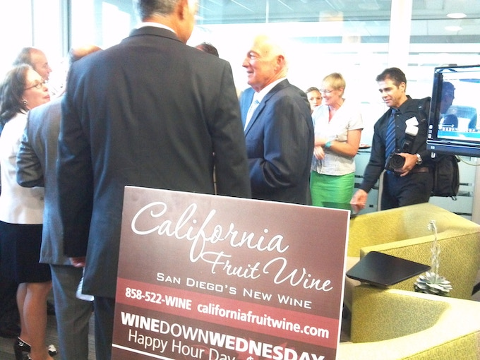 Exclusive wine at an event with Mayor Jerry Sanders