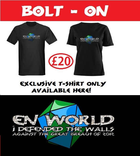 Men and womens' t-shirts, exclusive to this Kickstarter!