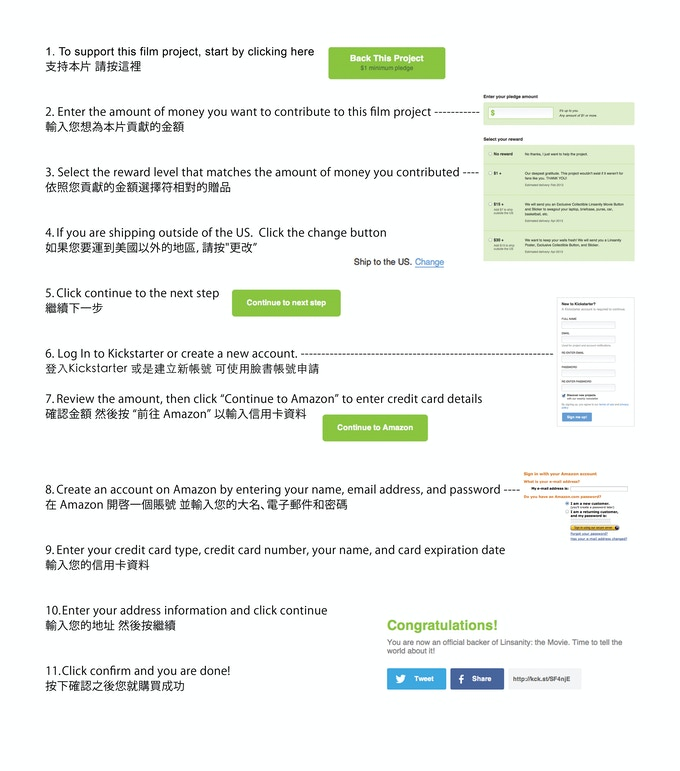 How to support in Chinese