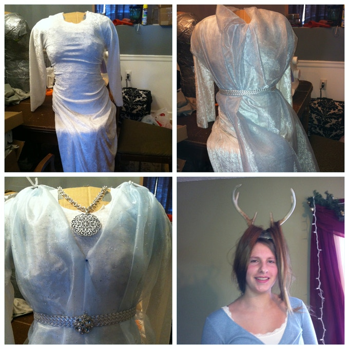 Here's a few pics taken during the creation of the Winter Queen costume.