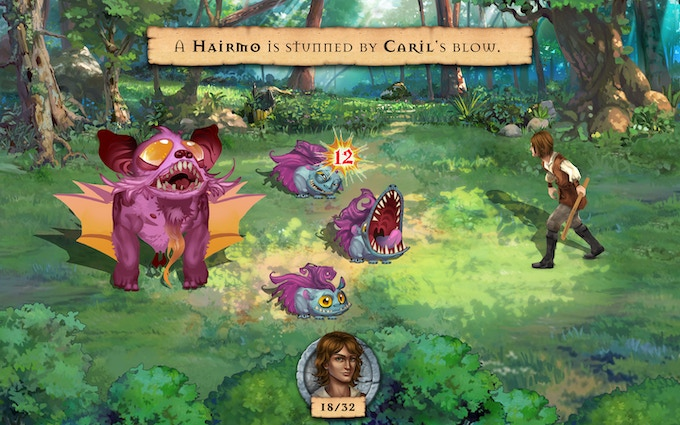 Battle original creatures in fast-paced turn-based combat
