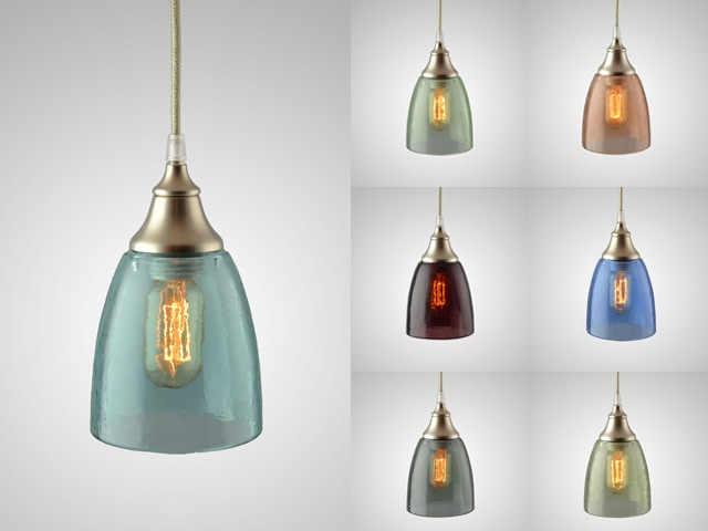 Pendants with Clear Glass Shades and Brushed Nickel Finish