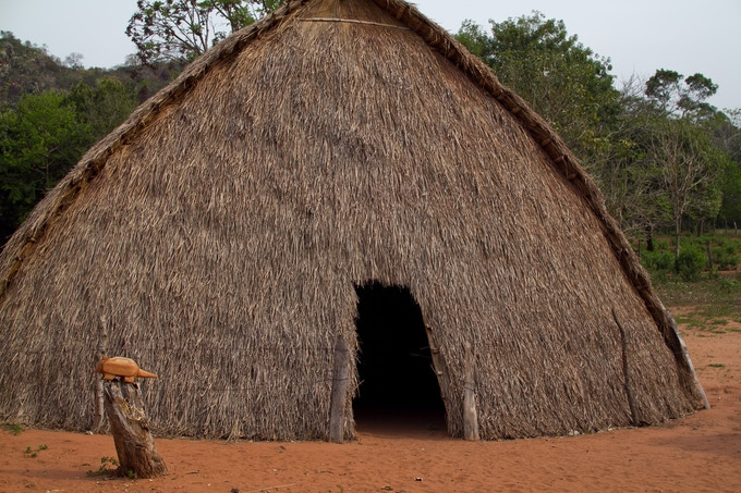 Most of the Pai Tavytera still live in traditional thatch roof huts.
