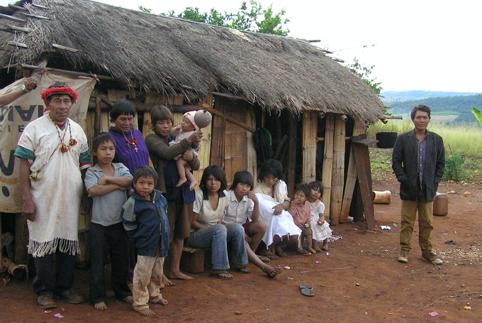 We will visit with a local Pai Tavytera tribe called the Panambi'y