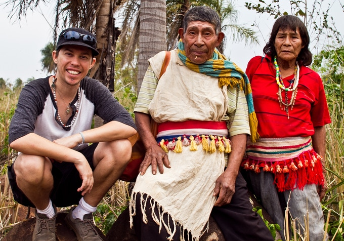 Myself with local Shaman Galeano Suarez and his wife, very good people.