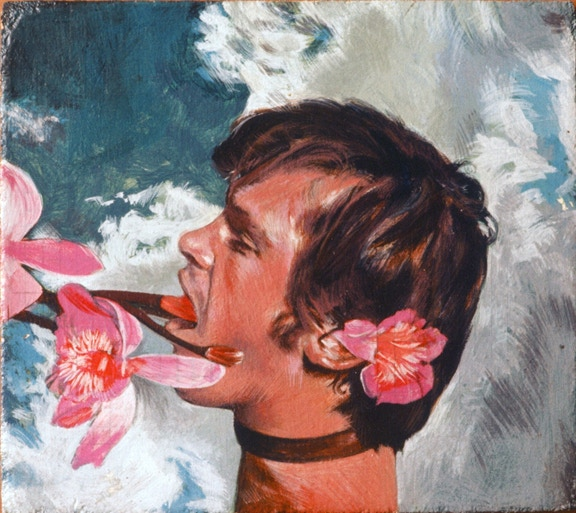 Danny Allen, ca 1974, Acrylic on board. Collection of WTW.