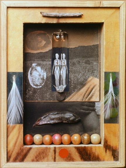 Shadowbox assemblage by Danny Allen, from the collection of the late Ramon Martinez.