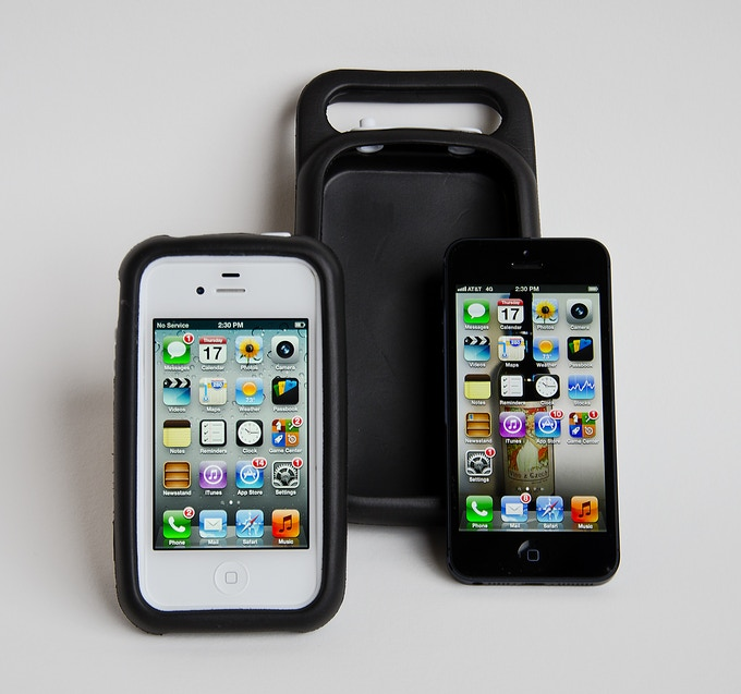 Case and Base for iPhone 4/4s...poor naked iPhone 5
