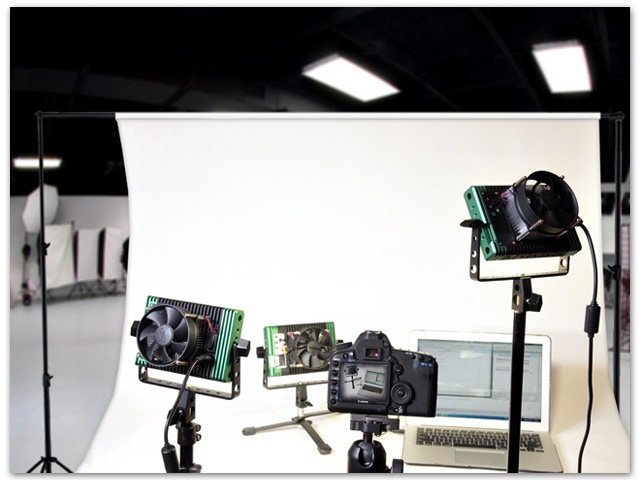 Behind the scenes photo shoot with Lumapads.