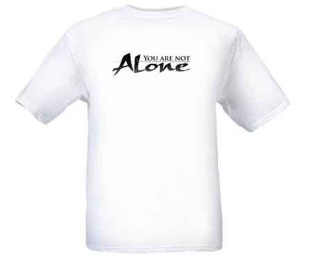 YOU ARE NOT ALONE- LOGO T-SHIRT