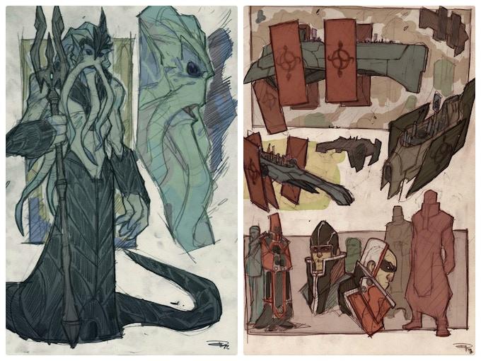 Poseidon and the fleet of the Snake Scross