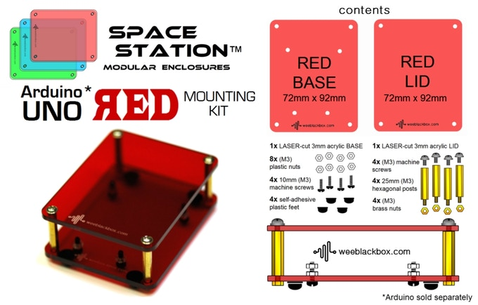 """""""RED UNO"""" SpaceStation Kit."""