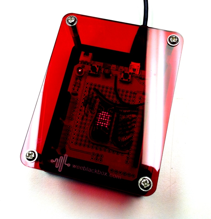 Bitmapped 5x7 LED display (vintage Texas Instruments TIL305). Built using a proto shield mounted on a Seeduino