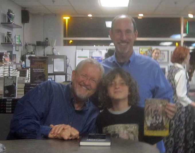 Henry & Harrison with Orson Scott Card (Ender's Game)