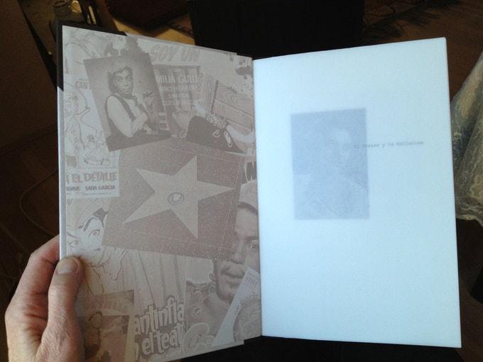 Inside covers have collage of Cantinflas' movie posters.