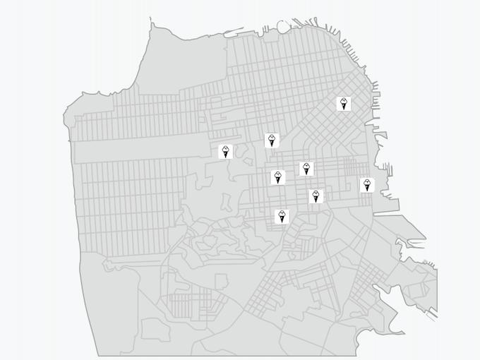 San Francisco map of ice cream shops [Draft]